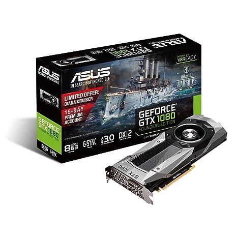 ASUS GTX1080-8G - Tarjeta gráfica (NVIDIA GeForce GTX 1080, 8 GB GDDR5X, PCI Express 3.0, DVI-D, HDMI, DP)