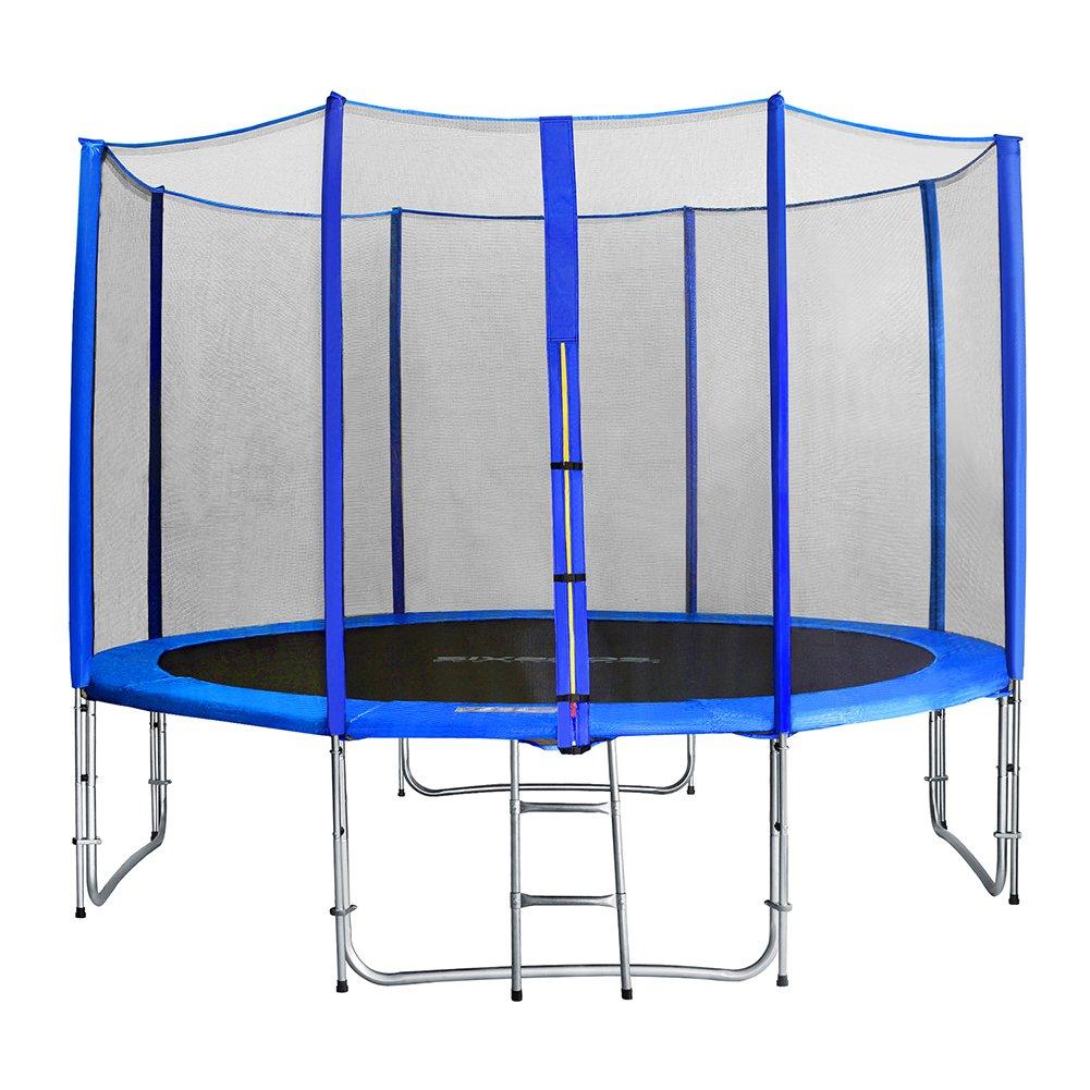 Gartentrampolin Jumper, Trampolin Ø 245-305-370-430-460cm Kindertrampolin Komplettset Inklusive Sprungmatte, Sicherheitsnetz, Gepolsterten und Randabdeckung für Kinder Erwachsene