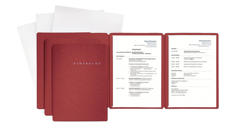 3 Bewerbungsmappen 3 Versandtaschen PAGNA Bewerbungsset Basic Special 6-teilig