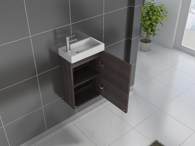 SAM® Kleiner Badezimmer Waschplatz, Badmöbel In Schwarz, Hochglanz  Oberfläche, Kleines Gästebad, 40 Cm, Bestehend Aus Waschplatz Und  Waschbecken, ...