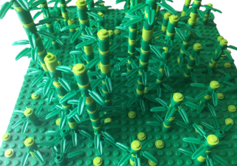 New LEGO Lot of 12 Green 3 Stem Flower Bases