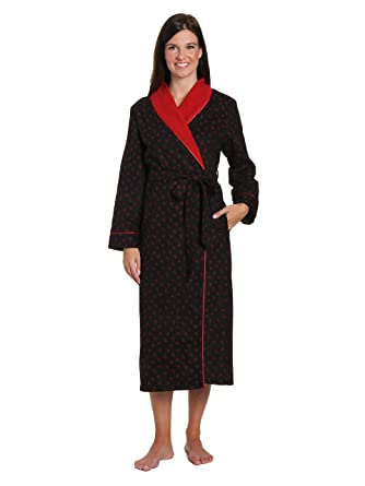 e58d7d26b5 Noble Mount Women s Premium Flannel Fleece Lined Robe at Amazon Women s  Clothing store