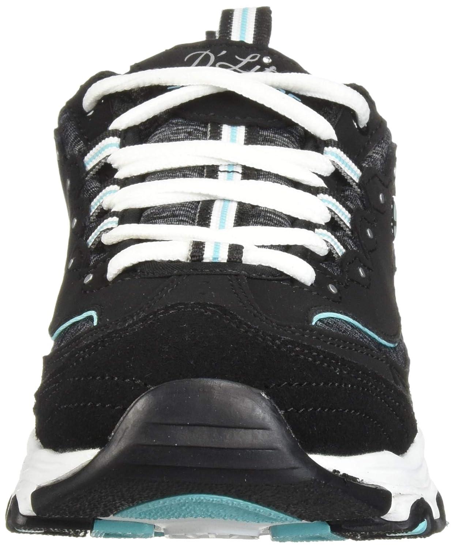 Skechers Damen D'lites 11936-bktq Sneaker Schwarz (Black 11936-bktq)