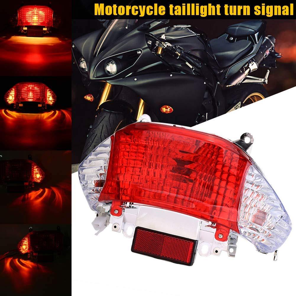 Moto Scooter 50cc arri/ère Feu arri/ère Moto Tourner Signal de freinage darr/êt pour la lumi/ère gy6 pour Le Chinois Taotao ensoleill/é Regard