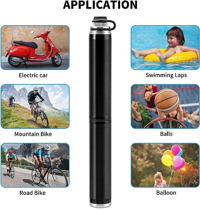 Bomba Para Bicicleta yipin Mini Bomba De Bicicleta Bomba de Mano peque/ña Port/átil Duradera y R/ápida para Carretera Bicicletas de Monta/ña Compacta Pelota y BMX