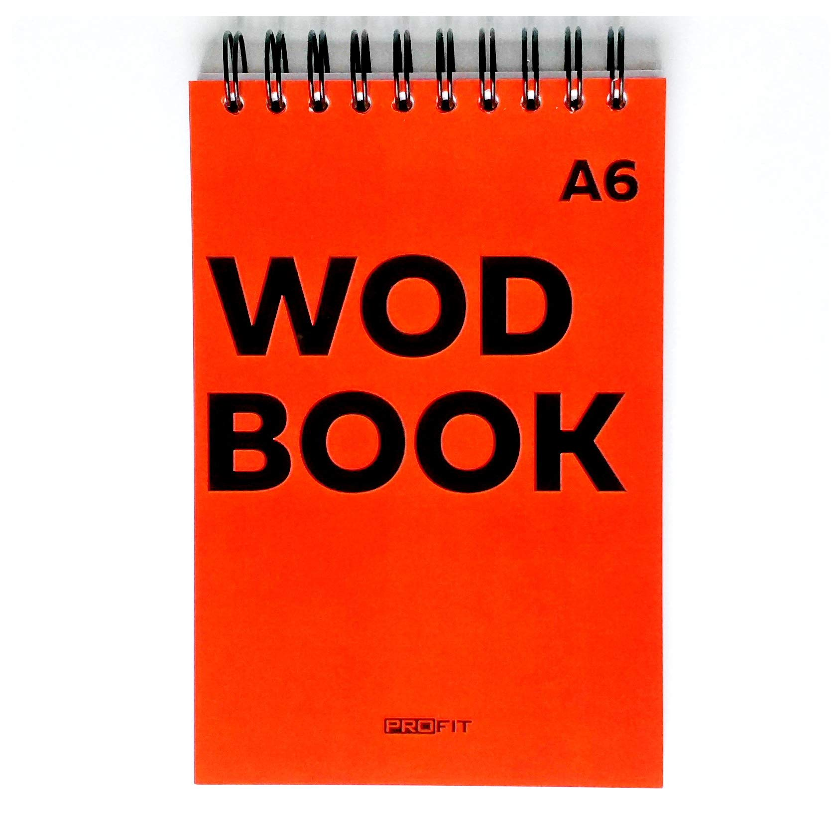 WODBOOK A6 Crossfit Training Journal by Profit - WOD Logbook - Cross Training Tracking Diary – WOD Book | 140 Pages - Track 125 WODs | Designed to Track Your Strength, Conditioning and Skills