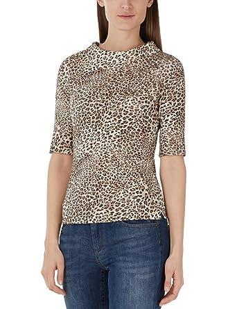 50ff963290b18 Marc Cain Collections Damen T-Shirt KC 48.26 J04, Mehrfarbig (Croissant  622), 38: Amazon.de: Bekleidung