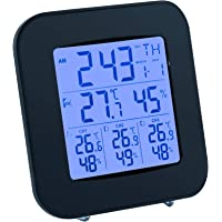 Mcbazel Digital Wireless Weather Station Thermometer with 3 Indoor Outdoor Sensor and LCD Display for Home/Office/Baby…