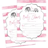 50 Fill In Elephant Baby Shower Invitations, Baby Shower Invitations,  Jungle, Neutral,