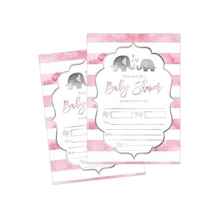 50 Llenar En Elefante Baby Shower Invitaciones Baby Shower