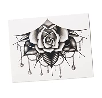 Amazon Com Tattooyou Jeweled Rose Temporary Tattoo For Women