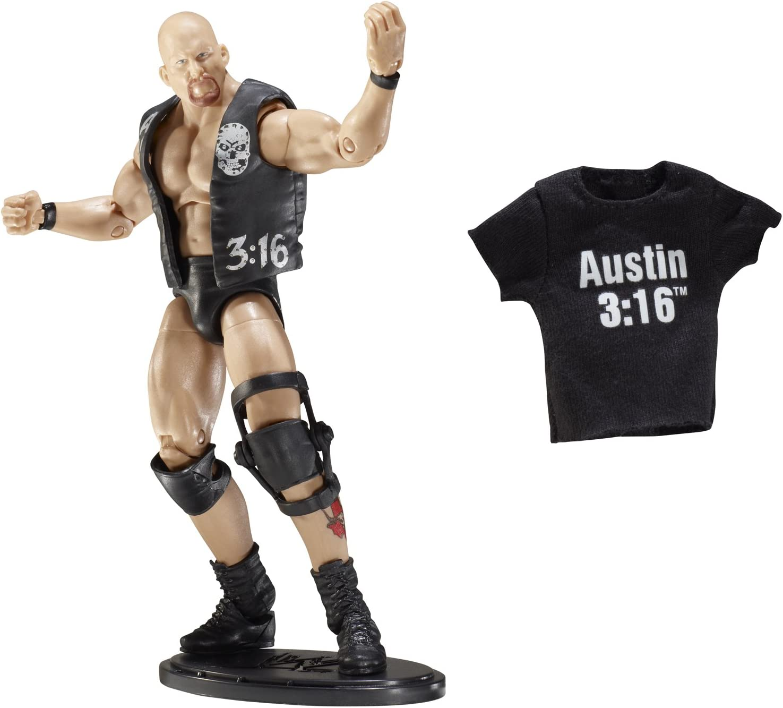 "WWE Wrestling Mattel Elite Steve Austin Shirt Accessory 6/"" Figures HoF /""What?/"""