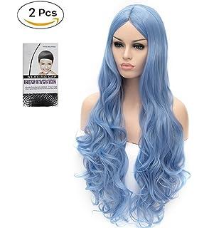 ATAYOU® Pelucas largas onduladas sintéticas para cosplay para mujer Halloween y fiesta de disfraces con