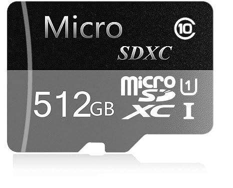 Guaihee - Tarjeta de Memoria Micro SD de 512 GB, Clase 10 ...