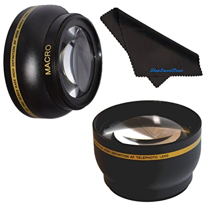 6cfd92c251 Amazon.com   55mm HD 2.2x Telephoto   .43x Wide Angle Lens Bundle ...