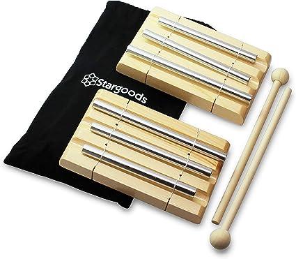 Mohoo Trio campanillas de la energía Chime Tres Tonos Instrumento ...
