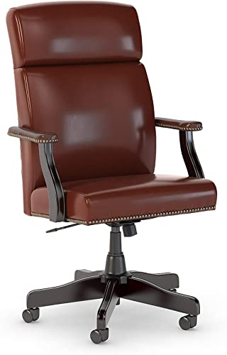 Bush Business Furniture State High Back Leather Executive Office Chair