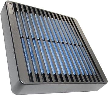 AERZETIX: Rejilla Negro de protección 120x120mm ventilación con ...