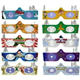 3D Christmas Glasses 10 Pack - Turn Holiday Lights Into Magical Images For A Fun Christmas Experience. Our Holographic Glasses Are Perfect For Entertaining Family, Friends & Colleague