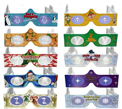 3d christmas glasses 10 pack turn holiday lights into magical images for a fun christmas