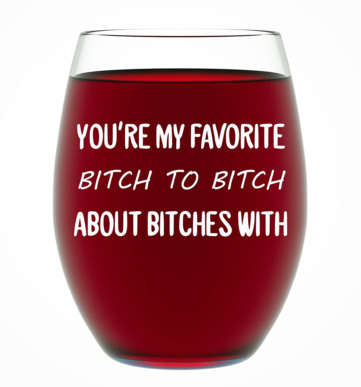 Best Friend Gifts For Women Funny BFF Birthday Or Christmas Present Men 15 Oz Dishwasher Safe Stemless Wine Glass Lovers