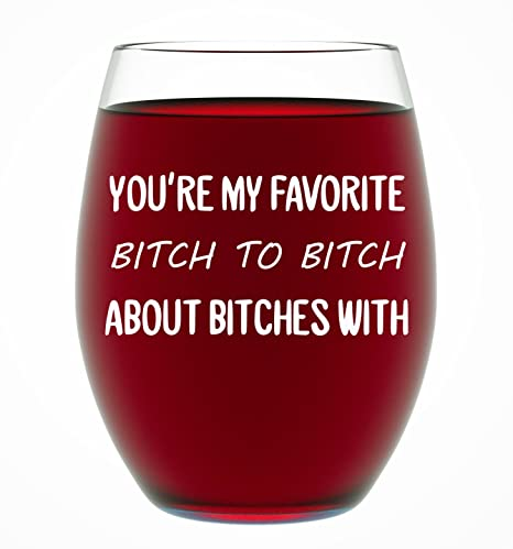 Best Friend Gifts For Women Funny BFF Birthday Or Christmas Present Men 15 Oz Dishwasher Safe Stemless Wine Glass