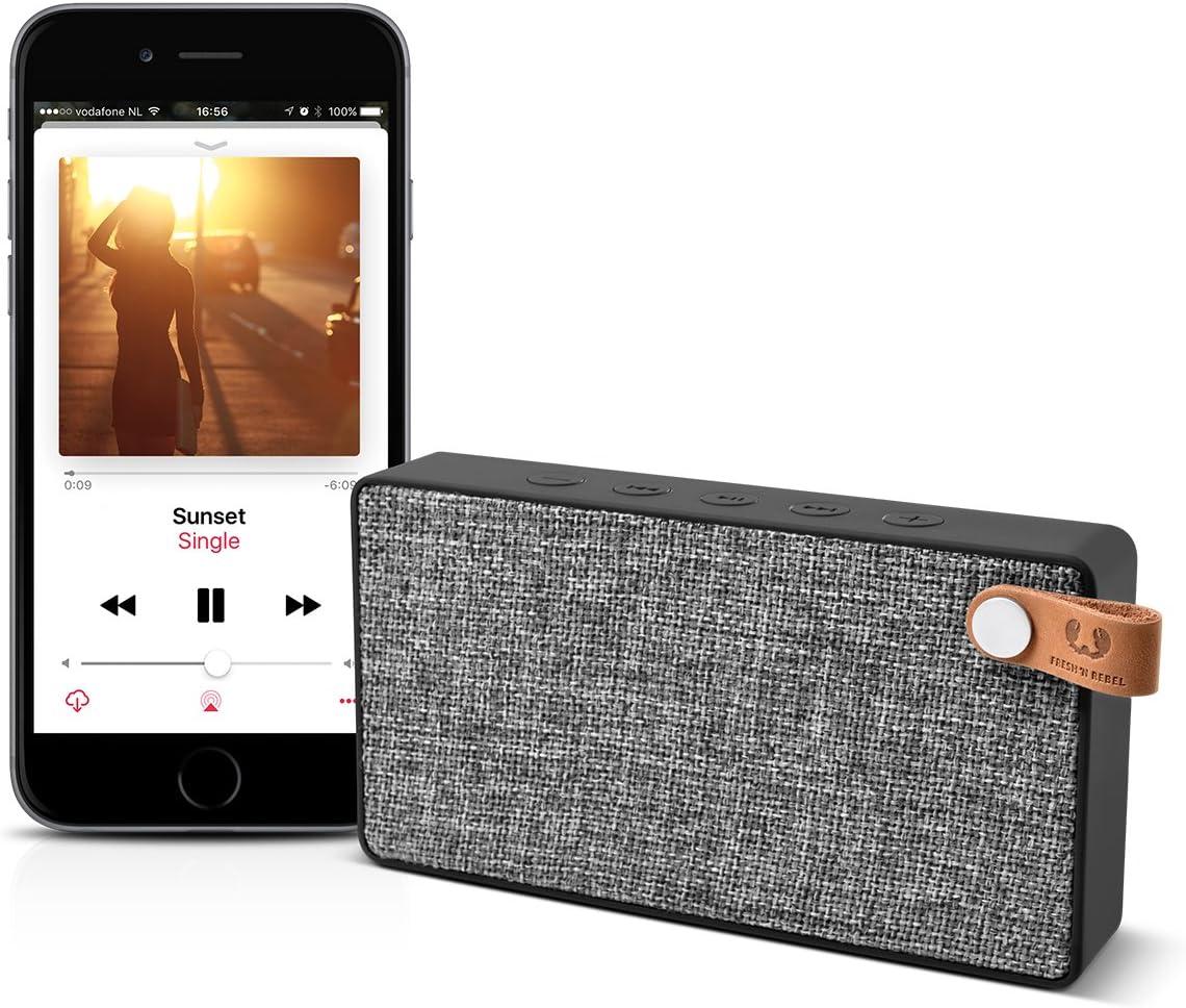 Fresh N Rebel Rockbox Slice Fabriq Edition Concrete Kabelloser Bluetooth Lautsprecher Audio Hifi