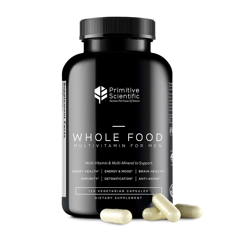Primitive Scientific Men's Multivitamin & Multimineral Capsules, Supports Heart Health, Energy & Mood, Immunity and More, 120 Vegetarian Capsules