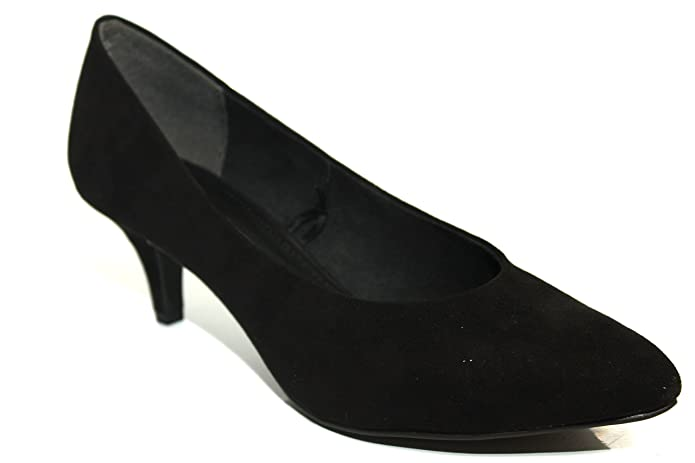 Marco Tozzi Comfort Low Heel Black Suede Office Work Court Shoes Size UK 3-8:  Amazon.co.uk: Shoes & Bags