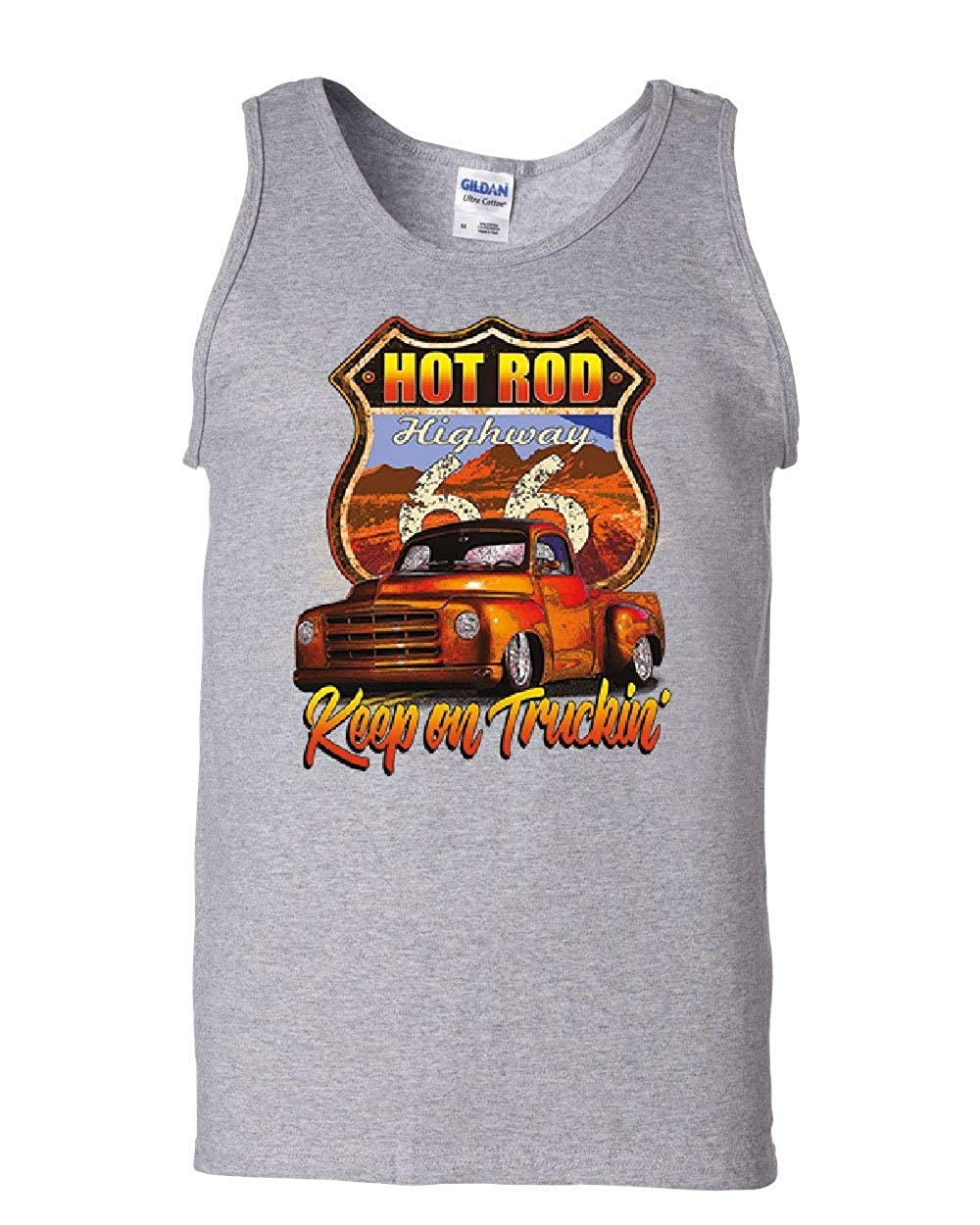 Hot Rod Highway Keep on Truckin Tank Top Route 66 Retro Pickup Sleeveless