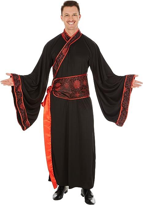 TecTake Disfraz de Chino Asiático para Hombre | Kimono Largo ...