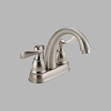 Delta Windemere 25996lf Bn Two Handle Centerset Bathroom Faucet