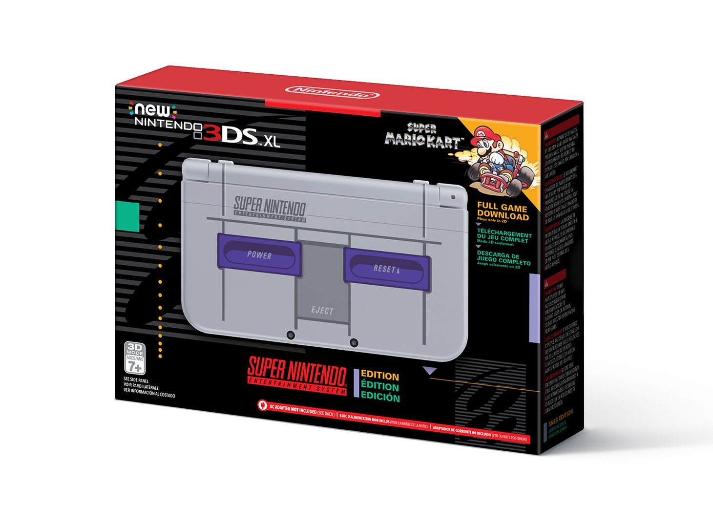 Nintendo New 3DS XL - Super NES Edition + Super Mario Kart for SNES by Nintendo (Image #1)