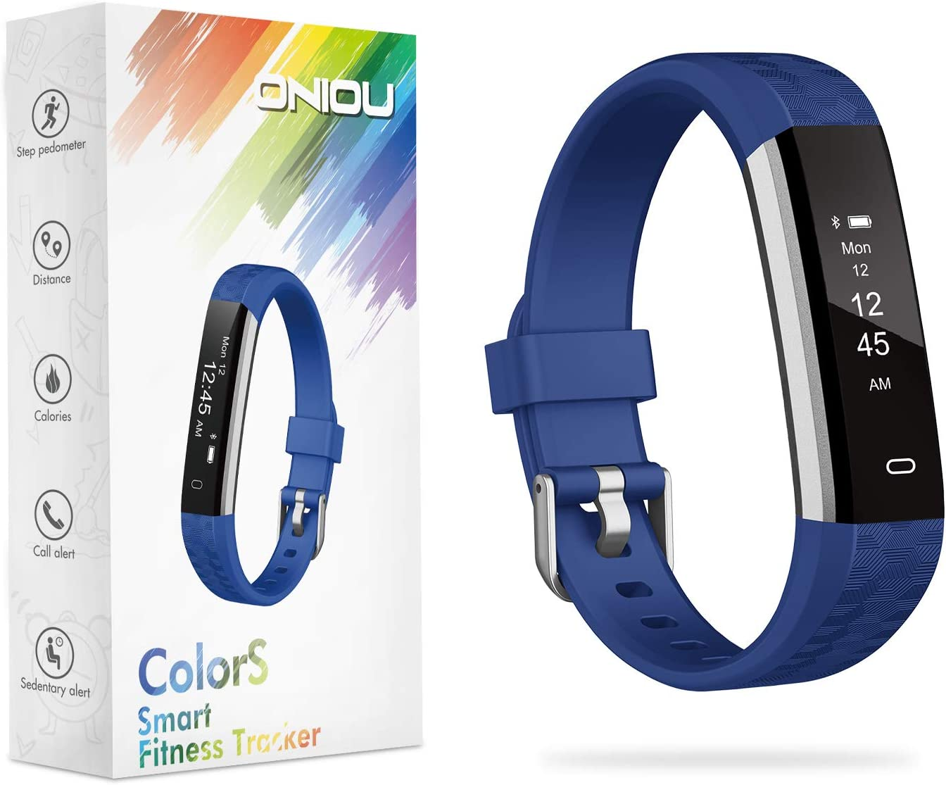 ONIOU Kids Fitness Tracker Watch, IP67 Waterproof Activity Tracker with Sleep Monitor, Alarm Clock, Sedentary Reminder, Pedometer Watch with Calorie Counter, Ideal Gifts for Children
