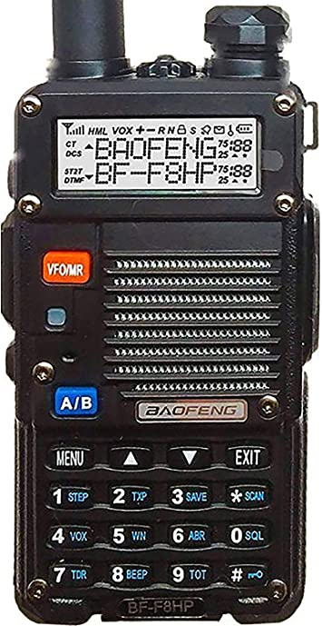 BaoFeng BF-F8HP (UV-5R 3rd Gen) 8-Watt Dual Band Two-Way Radio (136-174MHz VHF & 400-520MHz UHF) Includes Full Kit with Large Battery: Amazon.es: Electrónica