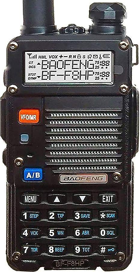 HESENATE HT-UV5R Plus HAM Two-Way Radio 5-Watt w// 3800mAh Extended Battery Dual-Band 136-174//400-520MHz Walkie Talkie FM Transceiver