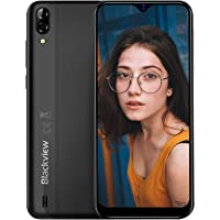 Mobile Phone, Blackview A60 Smartphone SIM Free Android Phones Unlocked, 6.1 inches Waterdrop Full-Screen, 4080mAh Battery, 5MP+13MP Dual Camera, Dual SIM Android 8.1 Oreo Phone, UK Version - Black
