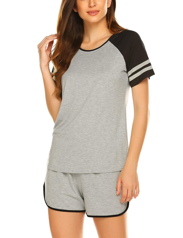 Ekouaer Womens Pajama Set Short Sleeve Sleepwear Pjs Sets Nightwear