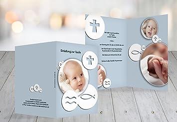 Schön Kartenparadies Einladungskarte Taufeinladung Taufkarte Taufsymbole,  Hochwertige Einladung Zur Taufe Inklusive Umschläge | 30 Karten
