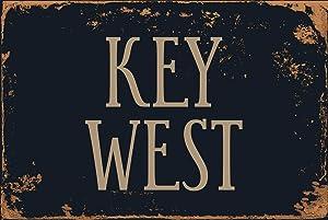 "StickerPirate Key West 8"" x 12"" Vintage Aluminum Retro Metal Sign VS488"