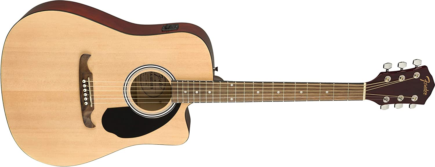Fender FA-125CE Natural Guitarra Acústica: Amazon.es: Electrónica