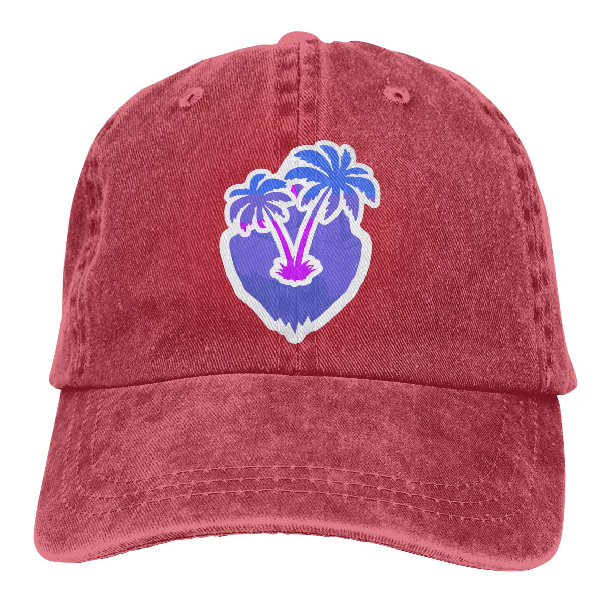 Blue-Violet Island Unisex Custom Cowboy Outdoor Sports Hat Adjustable Baseball Cap