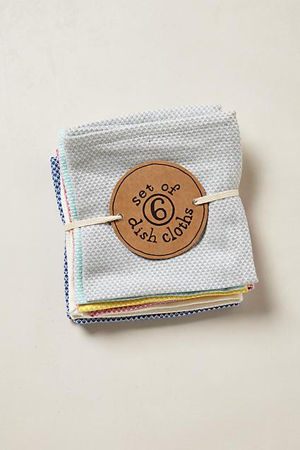 Waffle-Stitch Dishcloths - anthropologie.com