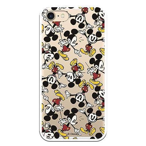 Carcasa Oficial de Disney Mickey Patrón Brazos Clear para iPhone 7-8 - La Casa de Las Carcasas