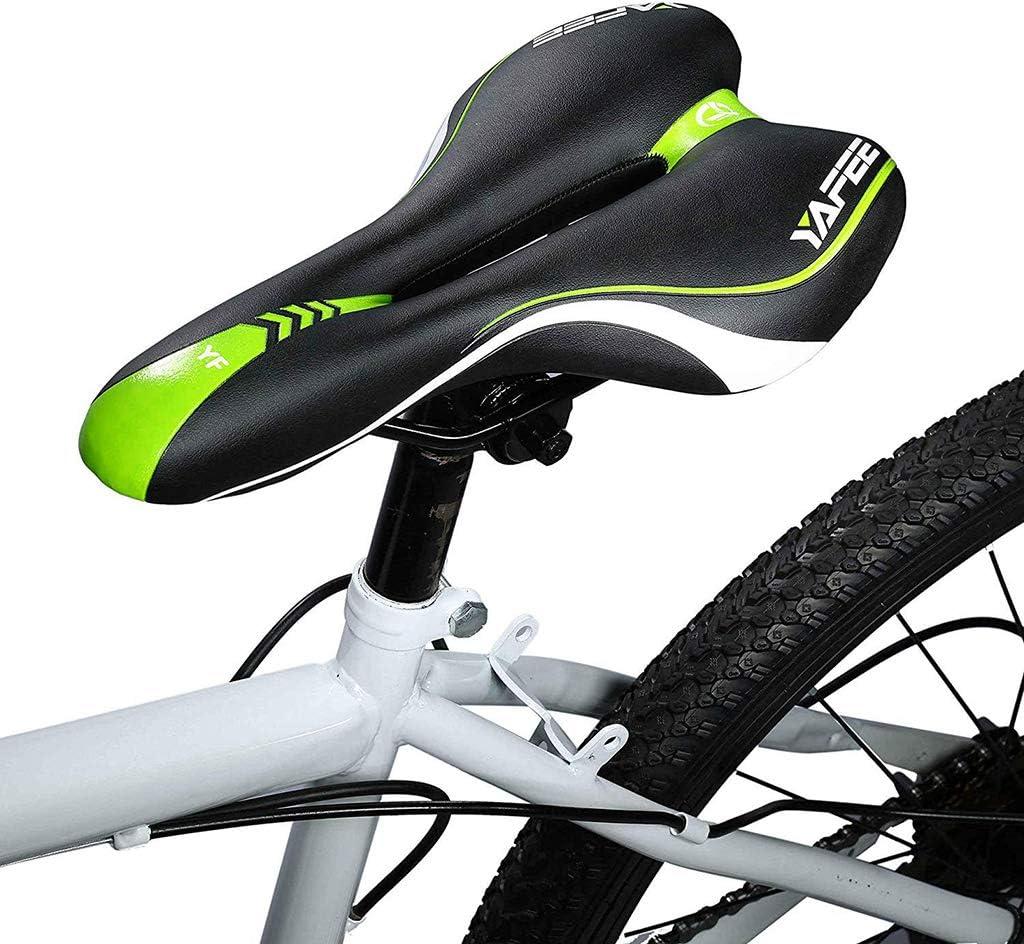 Comfy Bike Saddle Professional Mountain Bike Gel Saddle MTB Bicycle Cushion Cycle Seat for Men IPSXP Mountain Bike Saddle Soft Bike Saddle Black+Red