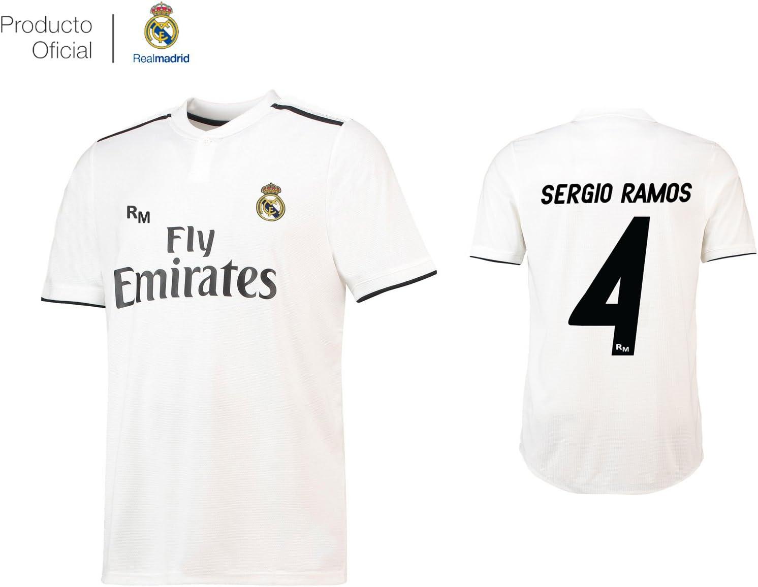 Real Madrid C.F. Camiseta 1ºEQUIPO Sergio Ramos Real Madrid 2018-2019 Adulto (M): Amazon.es: Deportes y aire libre
