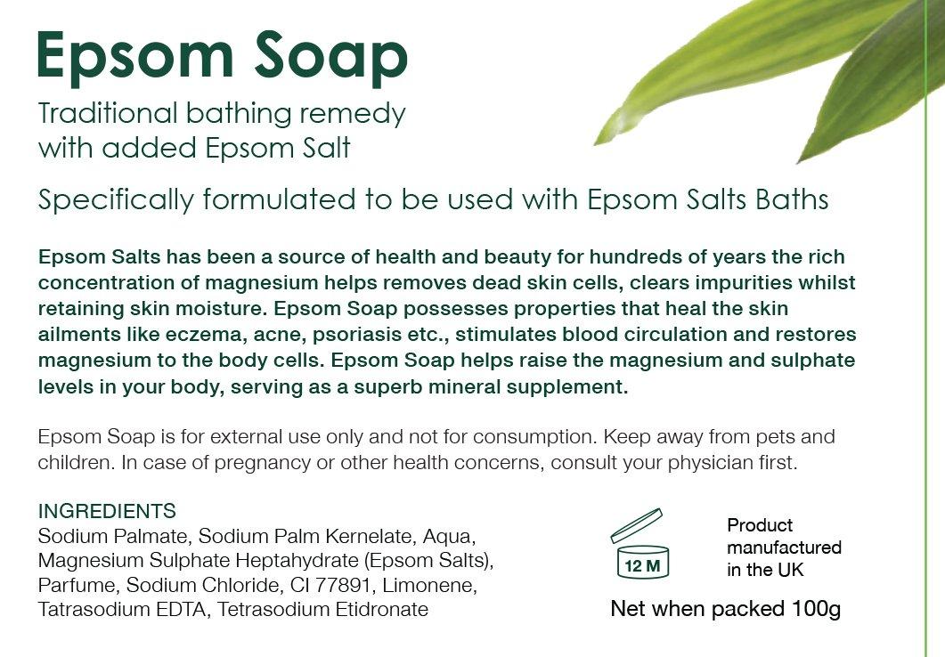 Jabón Epsom, formulado específicamente para usarse con las sales de baño Epsom: Amazon.es: Salud y cuidado personal