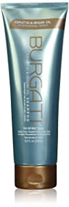 BURGATI Shampoo with Argan Oil & Keratin - For Smoothing, Moisturizing and Frizz Reduction - Sulfate Free, Paraben Free - For Color Treated Hair - Ideal for All Hair Types- Made in USA - 8 Fl Oz