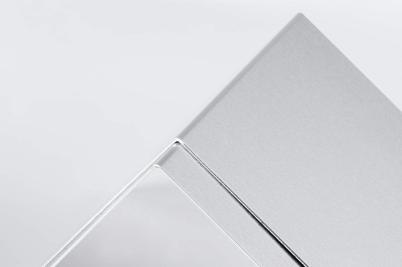 120 X MAUL Buchstütze 120 x B 175 mm aluminium 2 Stück H T