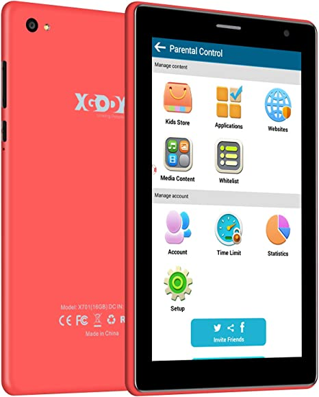 XGODY X701 Android 6.0 Kids Tablets Android con WiFi Bluetooth ...